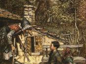 Arthur Rackham, illustration to Hansel and Gretel