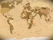 World Map Parchment wallpaper (1920x1200) - outdated, 2006 map