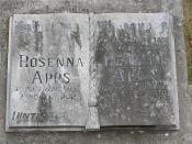 Apps Headstone at Yarra Cemetery, NSW