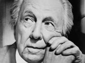 Portrait photograph of Frank Lloyd Wright
