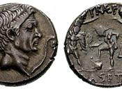Pompey on a coin by his son Sextus Pompeius