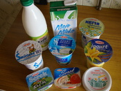 English: Dairy products produced by ŁSM Łódź