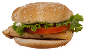 English: A Classic Grilled Chicken Sandwich from McDonald's, as bought in America.