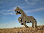Plywood horses