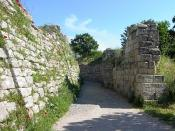 Portion of the legendary walls of Troy (VII), identified as the site of the Trojan War (ca. 1200 BC)
