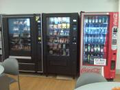 English: Vending machines in the cafeteria at Charlotte Regional Medical Center, Punta Gorda, Florida