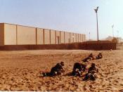 1985 Walvis Bay Detention Barracks - Leopard crawling