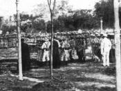 English: Photo of Jose Rizals execution (1896). Español: Fotografía de la ejecución de José Rizals (1896).