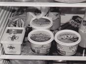 Margarine in the fridge