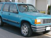 1991-1994 Ford Explorer photographed in USA. Category:Ford Explorer (first generation) Category:Blue SUVs