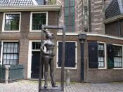 Statue to honor the sex workers of the world. Installed March 2007 in Amsterdam, Oudekerksplein, in front of the Oude Kerk, in Amsterdam's red-light district De Wallen. Title is Belle, inscription says