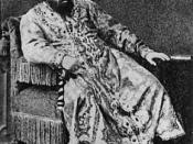 English: Baritone Ivan Melnikov as Tsar Boris in Boris Godunov 1874