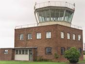 English: Air Traffic Control, Dishforth Airfield Tucked away on the northern side of the Army Air Corps airfield, Dishforth tower is still manned by RAF Air Traffic Controllers.