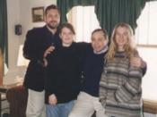 Ralph, Rachel and Sarah Paglia with Ralph Sr.