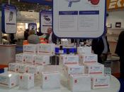 Stanbio, a subsidiary of EKF displaying their STAT-Site™ M Hgb Hemoglobin Photometer at the EKF Medica stand.