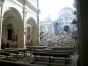 English: St. James church in Lorca, destroyed by the 2011 earthquake. Español: La iglesia de Santiago en Lorca, destruida tras el terremoto de 2011.