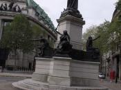 statue of William Gladstone outside the church of St Clement Danes - looking towards Australia House