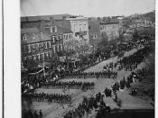 Lincoln's funeral on Pennsylvania Ave. (LOC)