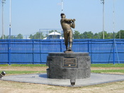 English: Monument to Mickey Mantle in Commerce, Oklahoma. The Mick was a switch hitter!