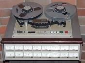 Tascam 1-inch 16-Track analogue tape recorder.