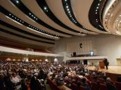 Inside of the Baghdad Convention Center, where the Council of Representatives of Iraq meets. This photo shows delegates from all over Iraq convening for the Iraqi National Conference.