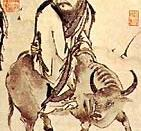 According to legends, Laozi leaves China on his water buffalo. Renard, (2002), p. 16