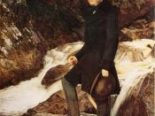 John Ruskin, portrait by John Everett Millais. Oil on canvas, 78.7 x 68 cm, arched top.