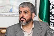 English: Khaled Meshaal in a meeting with spanish journalists