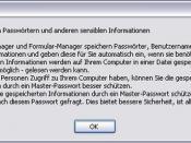Thunderbird - Speichern von Passwörtern und andere sensible Daten