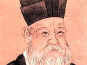 Zhu Xi (1130–1200), the Neo-Confucian philosopher who edited the Zizhi Tongjian historical text originally compiled by Sima Guang.