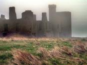 English: The Fog at Slains. This is the famous Slain Castle from Bram Stoker's Dracula or what's left of it. The fog helped it look spooky.