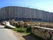 English: On the road to Bethlehem, a very symbolic tag on the wall made on the Palestinian side (