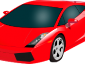 Red Lamborghini Gallardo, to be used as an icon.