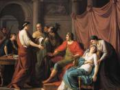 Painting by Jean-Joseph Taillasson: Virgil reading the Aeneid to Augustus and Octavia.