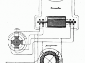 Nikola Tesla's AC dynamo used to generate AC which is used to transport electricity across great distances. It is contained in U.S. Patent .