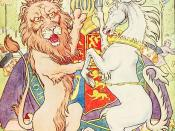 English: Lion and Unicorn from The Nursery Rhyme Book
