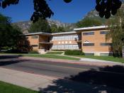 English: Photograph of Heritage Halls (04) Fox (Ruth May) Hall at Brigham Young University.