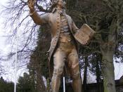 English: Thomas Paine statue, Thetford, UK
