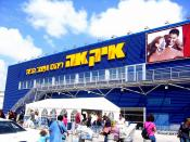 IKEA in Israel near Netanya. Note the Hebrew sign. The first word, איקאה (the furthest to the right) spells IKEA, followed by the words for