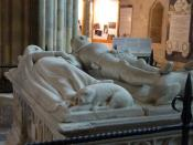 English: The Arundel Tomb at Chichester Cathedral in Chichester, England, which inspired the poem An Arundel Tomb by Philip Larkin.