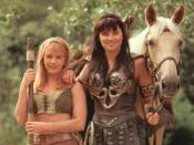 Xena with Gabrielle.