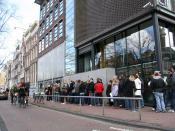 A photograph taken of the Anne Frank Museum in Amsterdam.