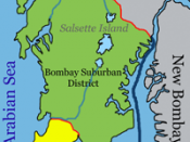 City districts of Bombay, India.