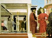 Piero della Francesca's Flagellation of Christ showing Piero's usage of linear perspective