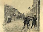 English: The attempted shooting of council president J.B.S. Estrup
