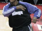 2008 01 16 - Sacramento Kings forward Ron Artest during pre-game warmups at Air Canada Centre in Toronto, Ontario. January 16, 2008.