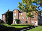 Former workhouse at Nantwich, Cheshire, constructed in 1780