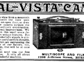 A 1900 advertisement for a short rotation panoramic camera