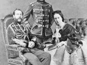 Empress Maria Alexandrovna with her husband Tsar Alexander II, and son, the future Tsar Alexander III
