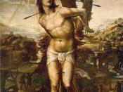 Saint Sebastian (d. 288), fictionalized portrait by Il Sodoma, ca. 1525.